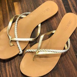 Colin Stuart silver & gold sandals
